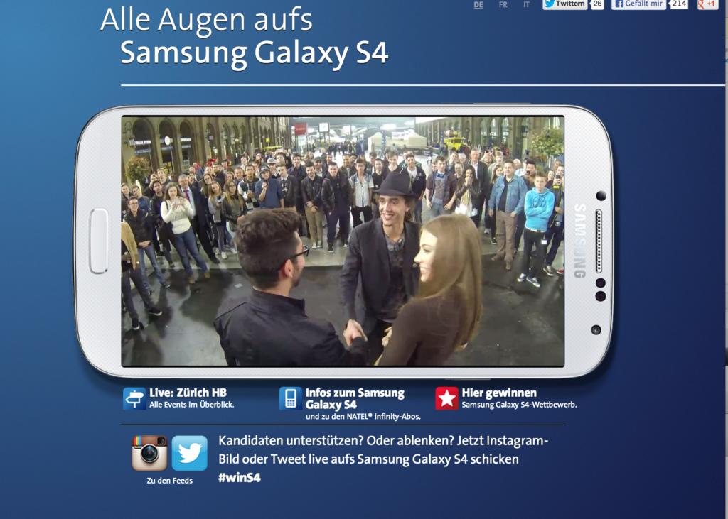 Samsung-S4-Vinnare-på-Zurich-Bahnhof