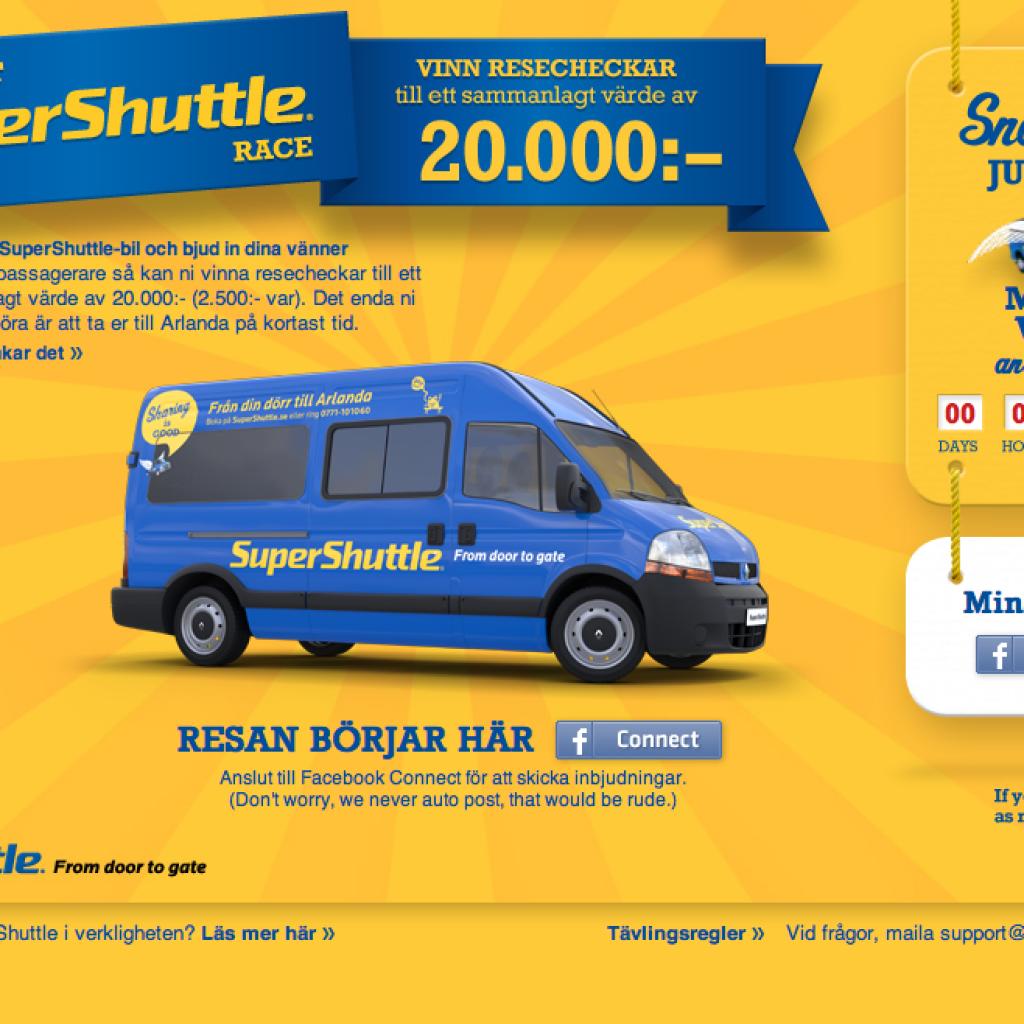 supershuttle svensk lansering kampanj acne