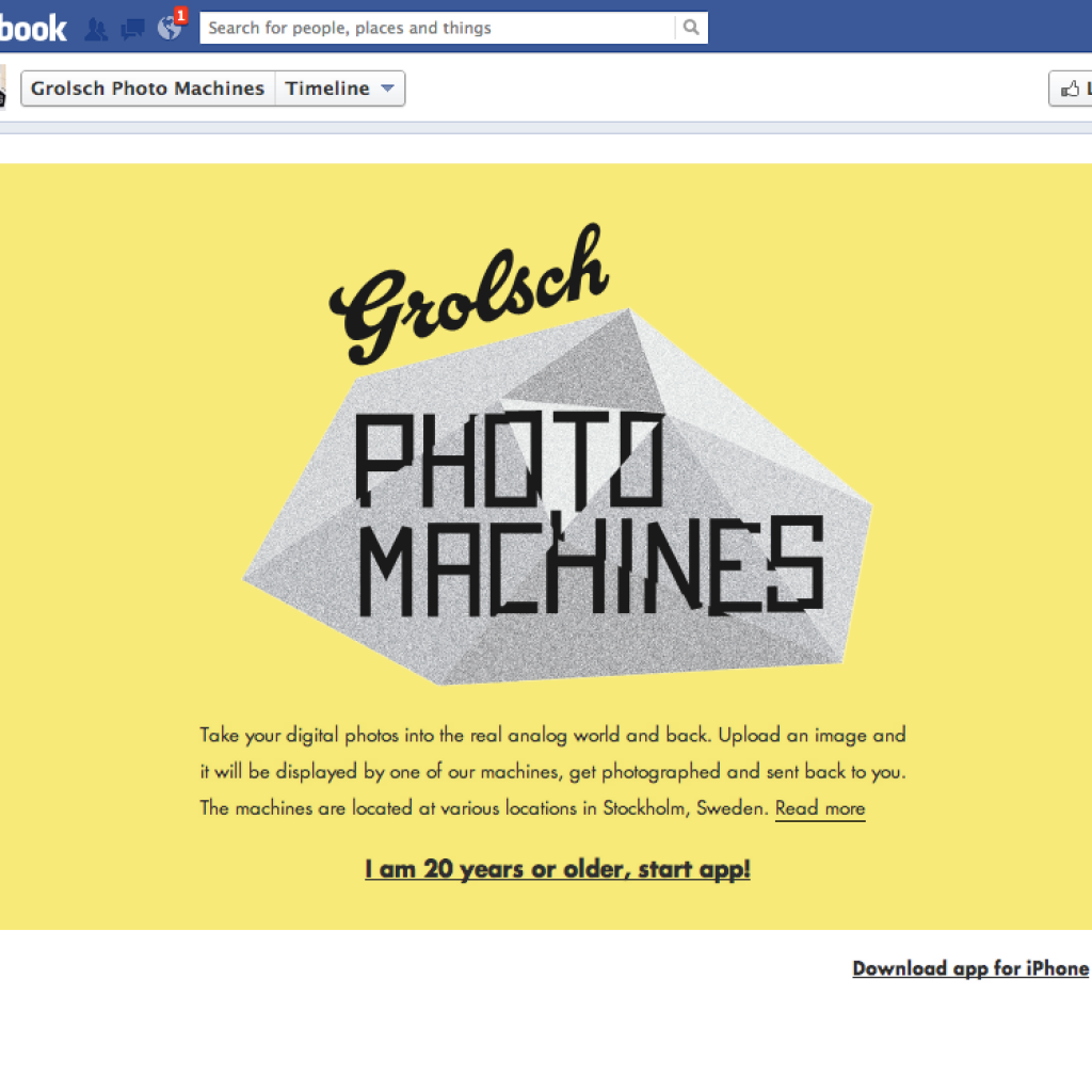 grolsch photo machines by society 46 & naked communications
