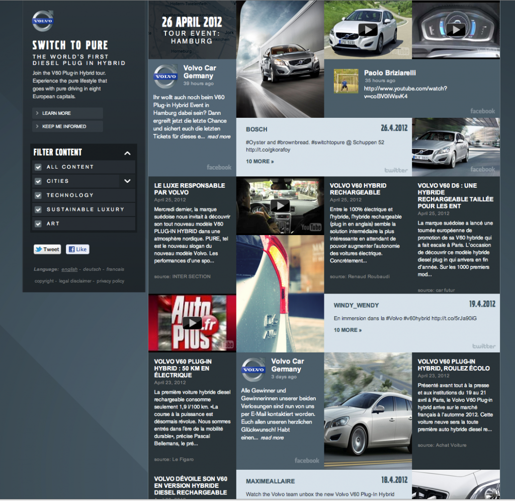 volvo hosting of campaign