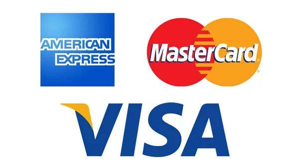 Kreditkort -American-Express-MasterCard-Visa